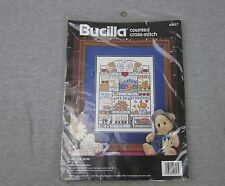 NEW Bucilla Counted Cross Stitch I Love You More 40627 SEALED 9x12 1992