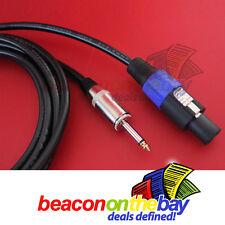 """20 Meters 65 Feet 2.5mm 13 AWG Speakon to 1/4"""" Jack PA Speaker Cable Lead"""