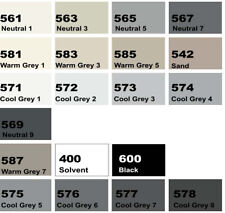 NEOPIKO-2 Gray Black Shades Deleter Alcohol Marker Professional Art Supplies