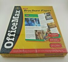 Office Max Brochure Paper 8.5 x 11 Satin 175 Sheets Heavy weight, Made in USA