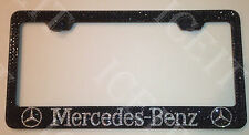 Mercedes Benz Stainless license plate frame Black Made with Swarovski Crystal