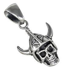 Viking Skull pendant 925 sterling silver, b183