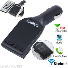 Car Kit MP3 Player Handsfree Wireless Bluetooth FM Transmitter LCD USB Charger