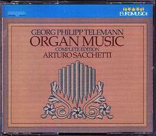 TELEMANN Organ Music Complete Ed ARTURO SACCHETTI 3CD Fantasien Choralvorspiele