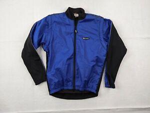 Louis Garneau Jacket Adult XS Men Windbreaker Full Zip Blue Black Cycling Biking