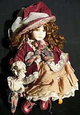 "Vintage Bernadette 16"" Porcelain Doll, late-90s, Original Box, Show Stoppers"