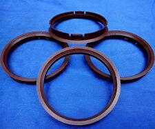 (fz54) 4 pezzi anelli di centraggio 73,0/66,6 mm Marrone per CMS DBV Rod OZ