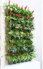 Self-Watering 3 Pockets Vertical Wall Garden Planters Hanging Flower Pot Garden