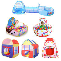 Foldable Playhouse Playpen Play Tent Kids Baby Pop Up Castle Party Ball Pit D239