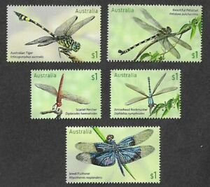 Australia- Dragonflies set 2017 mnh insects