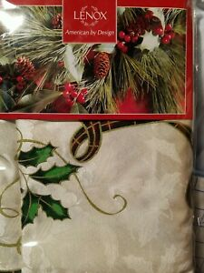 "LENOX Holiday Nouveau Christmas Fabric Tablecloth 52""x70"" Rectangle"