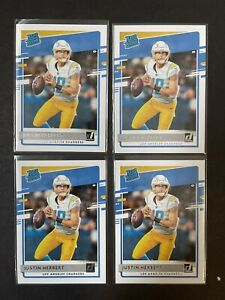 4 Card Lot - JUSTIN HERBERT Rookie Card  2020 Donruss Rated Rookie Charges QB