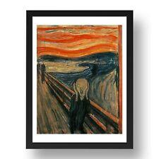 Edvard-Munch----The-Scream-  Classic Artwork,  8x6 Framed Fine Art