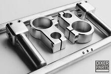 Aluminium CLIP-ON Adjustable -50 mm- all CNC -stunt Kawasaki ZX6R 636 ZX10R USD