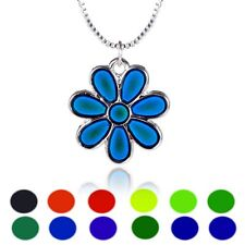 Daisy Flower Sensitive Liquid Thermo Mood Changing Color Pendant Choker Necklace