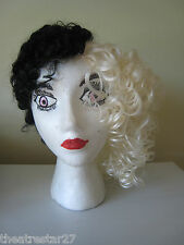 Blonde & Black 1/2 MALE - 1/2 FEMALE Costume Party Wig by Garland #CW-168L