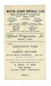 1948/49 Cheshire County League - WITTON ALBION v. NORTHWICH VICTORIA (Xmas Day)