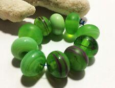 Handmade Lampwork Glass Beads From Murano Glass 14mm 10 Pcs