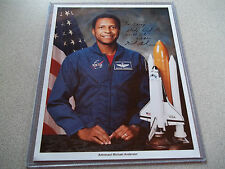 Michael Anderson Autographed 8X10 NASA STS-107 Photo