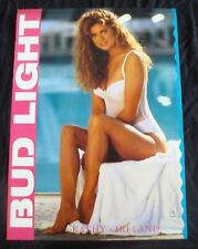 KATHY IRELAND beer promo poster BUD LIGHT White swimsuit original store display