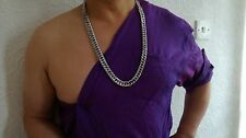 """Sale 34"""" 15mm 18K Men's White Gold Plated Chunky Chain Necklace, Birthday Gift"""