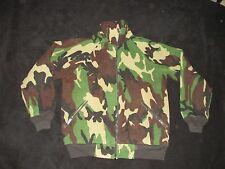 Vintage Alalden Polar Twill Fleece Green Camo Hunting Jacket  Men's M USA H5
