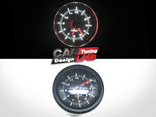 52mm Clock Time Car Auto/Truck Gauge Meter White LED / Clear Lens 12V