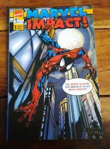 MARVEL IMPACT! #1 - Marvel Deutschland 1999 - Back. Board mit Spider-Man-Logo