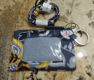 NWT VERA BRADLEY Lighten Up Zip ID Case and Lanyard- CHARMONT MEADOW