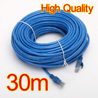 100FT 30M CAT5 RJ45 Ethernet LAN Internet Network UTP Cable Wire Patch FE