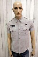 BLAUER Taglia M Camicia Uomo Cotone Shirt Man Chemise Casual Manica Corta