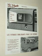 Catalogue Glac Auto 2 CV CITROEN  Fourgonnette  prospectus brochure prospeckt