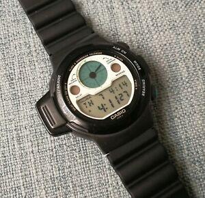 vintage casio cpw-310 islamic prayer compass qibla lcd wrist watch qw-1044 japan