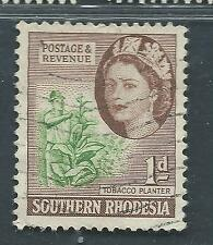 SOUTHERN RHODESIA used Scott 82, SG 79 1d Tobacco Planter
