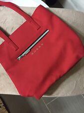 Guess Red Nylon Tote Handbag Purse Bag Women