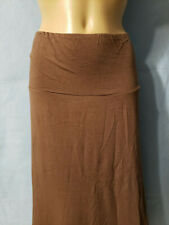 New Woman's Liz Lange Maternity Brown Stretch Long Flare Skirt X-Large XL