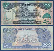 SOMALILAND 500 Shillings 2011  UNC  P. 6 h