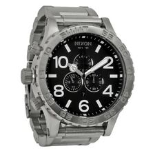 *NEW* NIXON 51-30 A083-000 WATCH MENS BLACK DIAL SILVER TONE - NEXT DAY DELIVERY