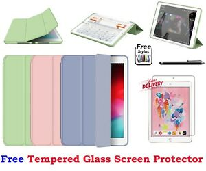 Smart Folding Magnetic Leather Stand Case + Tempered Glass For iPad Pro 9.7 2016