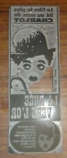 la ruee vers l or charlot charles chaplin plaque imprimerie cinema publicite