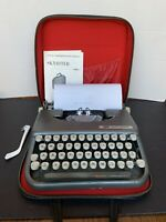 Vintage 1960 Smith-Corona SkyRiter Industrial Case And Manual Very Nice!!