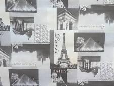 Tovaglia di plastica per tavolo cm 140x200 -50% color bianco nero city parigi nj