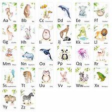 SET 26 Tier Buchstabenkarten ABC Lernkarten Alphabet Schule