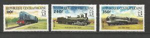 Centrafricaine 1984 train Y&TN°620 à 622 3 timbres neufs sans charnière /T5506