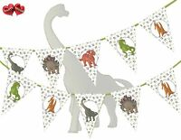 Jurassic Collection - Dinosaurs Assorted Mix Prehistoric Bunting Banner 15 flags