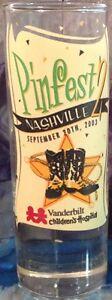 "Hard Rock Cafe NASHVILLE 2003 SHOT GLASS 4"" ""PINfest 2"" HRC Pin Trading Event"