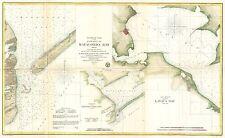 1857 Coastal Survey Map Nautical Chart of Matagorda Bay and Lavaca Bay Texas