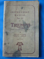 TRIUMPH TWIN CYLINDER MANUAL NO.14 (SPEED TWIN TIGER THUNDERBIRD TROPHY TR5 TR6)