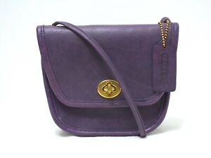 Vintage Coach Everett Shoulder/CrossBody Bag Purple GTLeather #9934 Made in USA