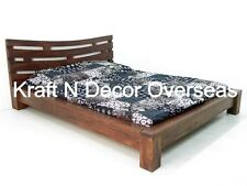 Comtempory Double Bed of Shesham Wood Size 180 X 200 Cms in Black Colour